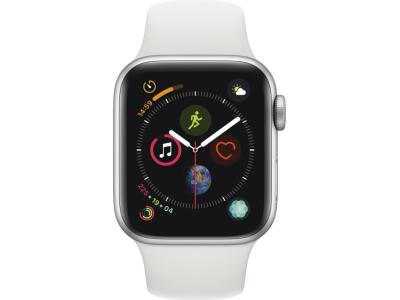 Смарт-часы Apple Watch Series 4 44mm Silver Aluminium Case With White Sport Band