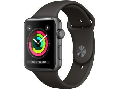 MTF32GK/A AppleWatch Series3 GPS, 42mm Space Grey Aluminium Case with Black Sport Band
