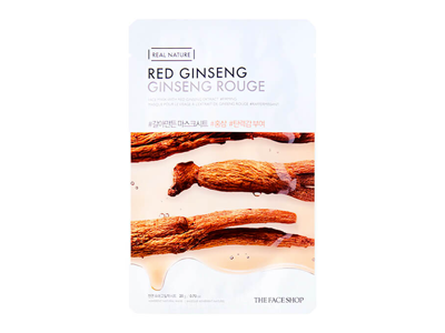 THEFACESHOP REAL NATURE RED GINSENG FACE Маска для лица