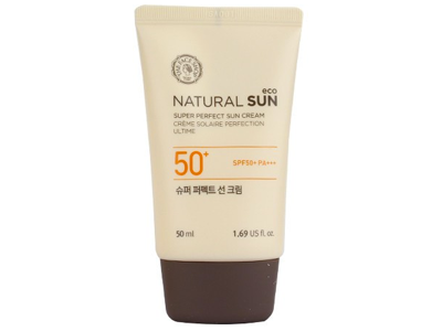 Солнцезащитный крем SPF50+ PA+++  NATURAL SUN ECO SUPER PERFECT SUN CREAM 50мл