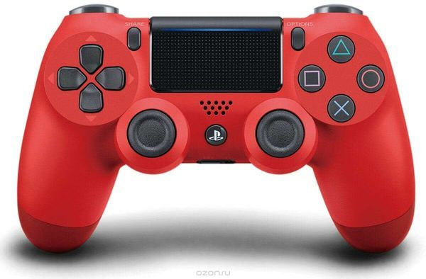 PS4 Wireless Controller Dualshock-4 (Red) CUH-ZCT2E/джойстик Sony