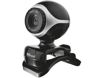 Веб-камера Trust Exis Webcam Black-Silver