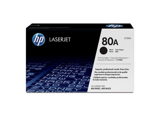 Картридж HP CF280A 80A Black Print Cartridge for LaserJet Pro 400 M401/M425, up to 2700 pages.
