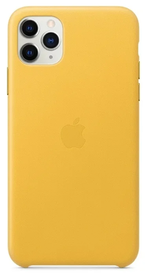 Чехол Apple кожаный  Apple iPhone 11 Pro Max yellow