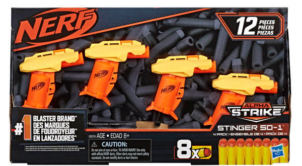 Nerf: Alpha Strike. Стингер SD-1 4 pack.