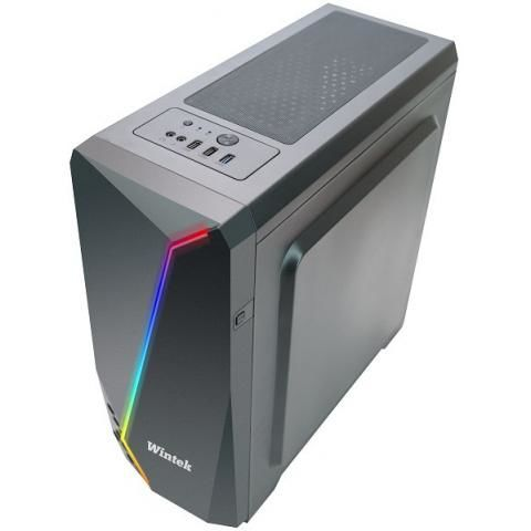 Корпус Wintek Arrow K163 TG, ATX/Micro ATX, USB 1*3.0/2*2.0, 0,55mm, RGB strip, 1*12cm SR Rainbow fan