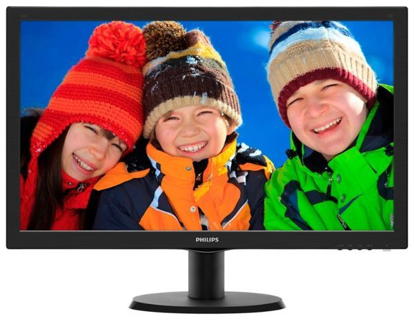 Монитор Philips 23.6 1920x1080 DVI D-Sub HDMI Черный (243V5QHABA)