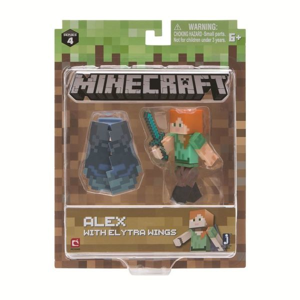 Игрушка Minecraft фигурка Alex with Elytra Wings (Игрушка Minecraft фигурка Alex with Elytra Wings)