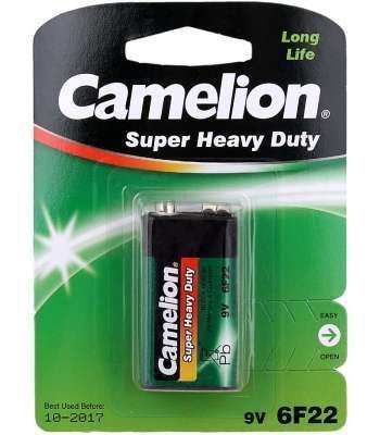 Батарейка CAMELION Super Heave Duty 6F22-SP1G