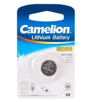 Батарейка, CAMELION, CR1616-BP1, Lithium Battery, CR1616, 3V, 220 mAh, 1 шт.